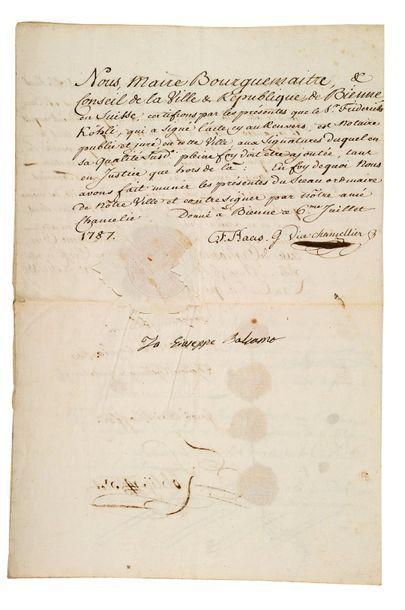 CAGLIOSTRO Giuseppe BALSAMO, dit Alexandre comte de (1743-1795) aventurier italien,...