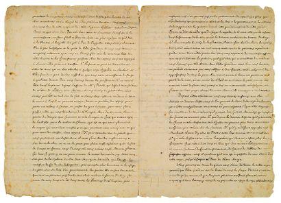 CHINE L.A.S. du Jésuite chinois Aloys KO, cosignée par Étienne YANG, Pékin 29 septembre...