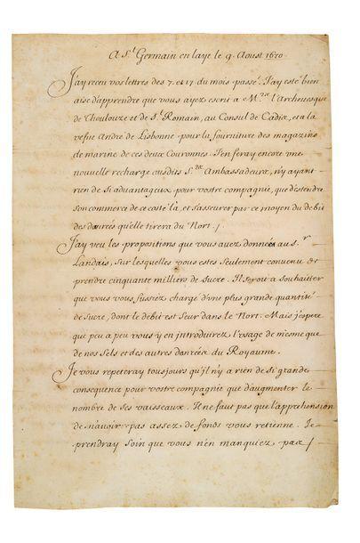 COLBERT Jean-Baptiste (1619-1683)