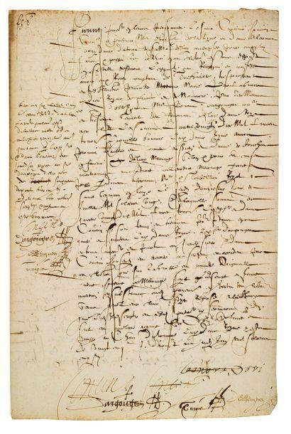 CONCINI Concino, maréchal d'ANCRE (1575-1617) aventurier italien, favori de Marie...