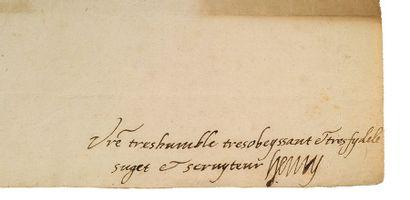 HENRI IV (1553-1610) Roi de France L.A.S. «Henry», [Bergerac 21 juillet 1585], au...