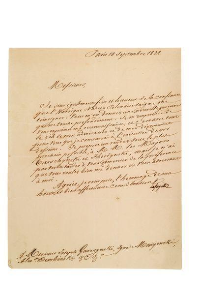 LAFAYETTE Gilbert du Motier, marquis de (1757-1834)