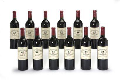 12 blles Château Pavie Macquin - 2007 - Saint-Emilion...