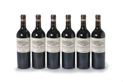 6 blles Château Troplong Mondot - 2007 -...