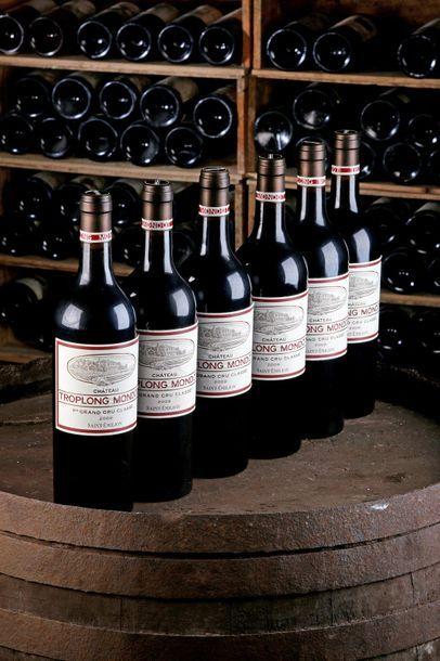 6 blles Château Troplong-Mondot - 2009 -...