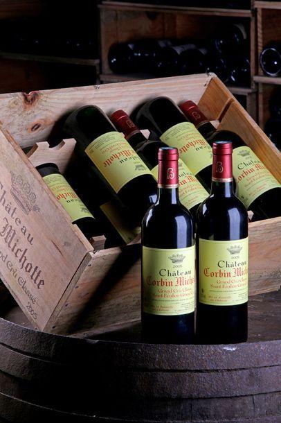 12 blles Château Corbin-Michotte - 2005 -...