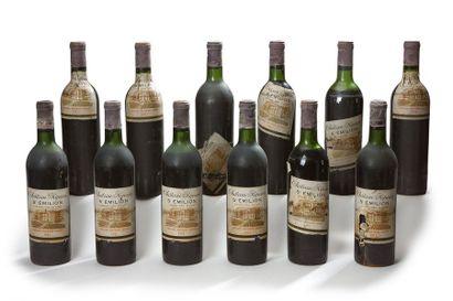 12 blles Château Ripeau - 1971 - Saint-Emilion...