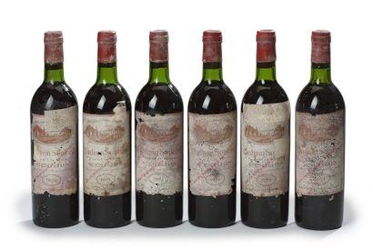 6 blles Château Soutard - 1974 - Saint-Emilion...