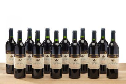 12 blles Château La Couronne - 1995 - Saint...