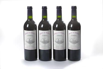 4 blles Château La Violette - 1995 - Pom...