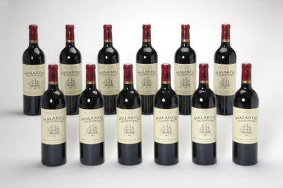12 blles Château Malartic-Lagravière - 2005...