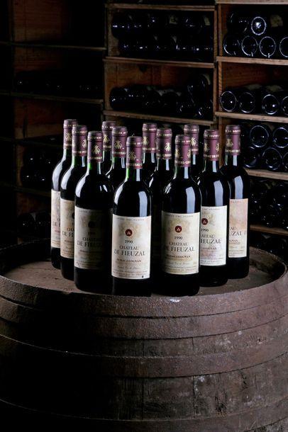 12 Blles Château Fieuzal - 1990 - Pessac-Léognan...