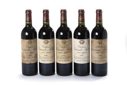 5 blles Château Sociando-Mallet - 1996 -...