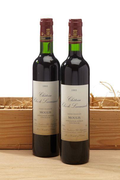 6 CBO de 2 demi-bouteilles Château Clos de...