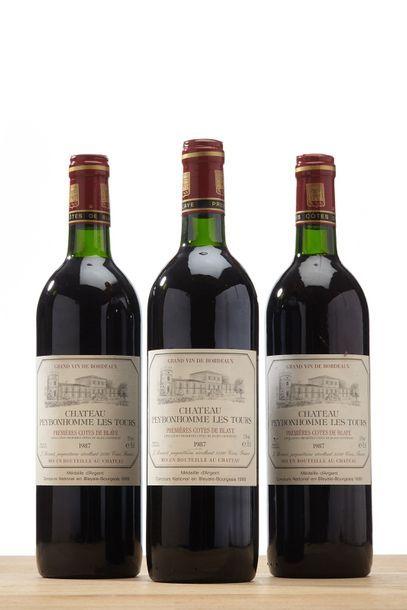 3 blles Château Peybonhomme les Tours - 1987...