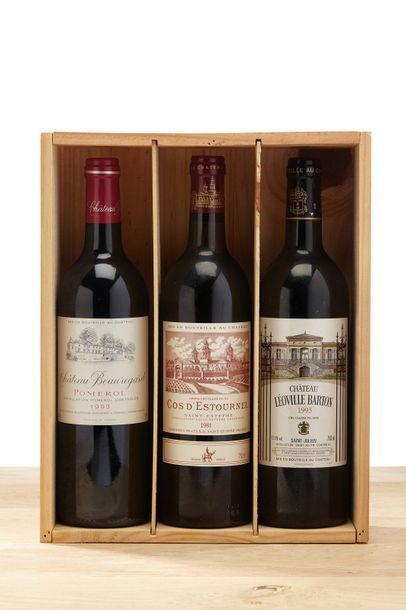 [MIX] Lot 3 blles Bordeaux:    - 1 blle Château...