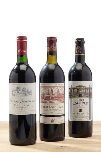 [MIX] Lot 3 blles Bordeaux:    - 1 blle Château Cos d'Estournel - 1981 - Saint Estèphe...