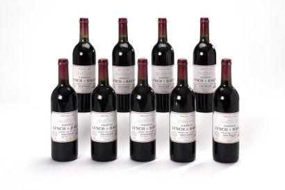 9 blles Château Lynch Bages - 1996 - 5ème...