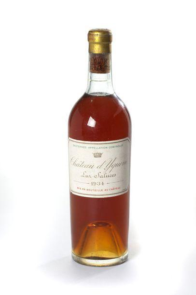 1 blle Château d'Yquem - 1934 - 1er GCC Sauternes...