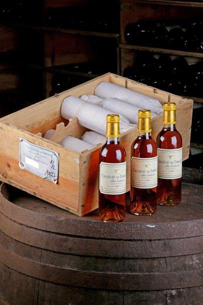 12 demi bouteilles Château de Fargues - 1997...