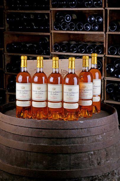 6 Blles Château de Fargues - 2001 - Sauternes...