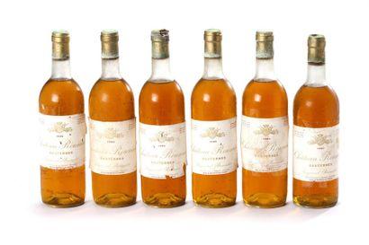 6 blles Château Roûmieux - 1980 - Sauternes...