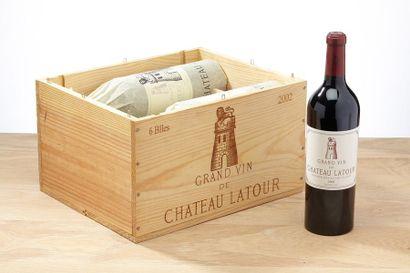 6 blles Château Latour - 2002 - Pauillac...