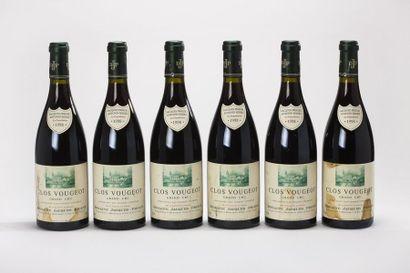 6 blles Clos Vougeot Grand Cru - 1998 - Dom....