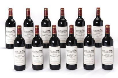 12 blles Château Pontet-Canet - 1995 - Pauillac...