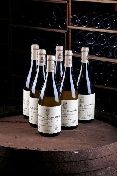 """6 Blles Meursault """"Charmes"""" 1er Cru - 2007 - Domaine des Comtes Lafon    - état/..."""