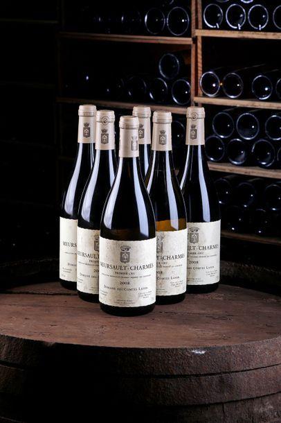 """6 Blles Meursault """"Charmes"""" 1er Cru - 2008 - Domaine des Comtes Lafon    - état/..."""