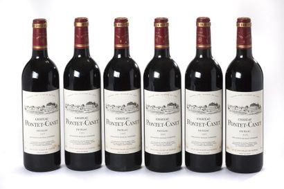 6 blles Château Pontet-Canet - 1995 - Pauillac...