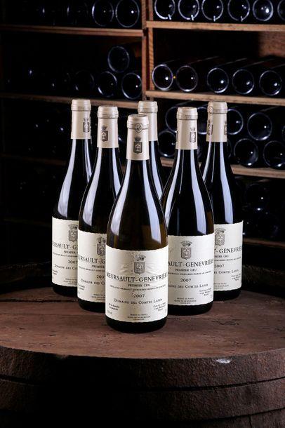 """6 Blles Meursault """"Genévrières"""" 1er Cru - 2007 - Domaine des Comtes Lafon    - état/..."""