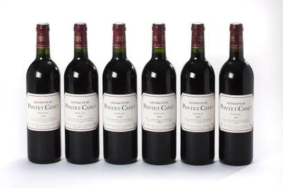 6 blles Les Hauts de Château Pontet-Canet...