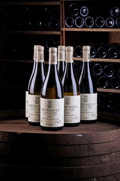6 Blles Meursault Clos de la Barre - 2007...