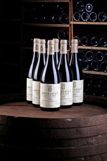 6 Blles Meursault Clos de la Barre - 2008...
