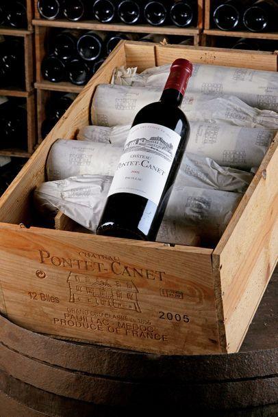 12 Blles Château Pontet-Canet - 2005 - Pauillac,...