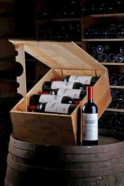 12 Blles Château Grand Puy Lacoste - 2000...
