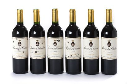 6 blles Réserve de la comtesse - 2000 - Pauillac...