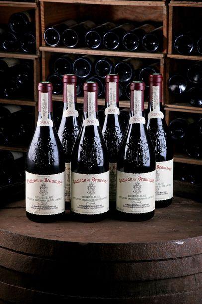 6 Blles Châteauneuf-du-Pape - 2007 - Château...