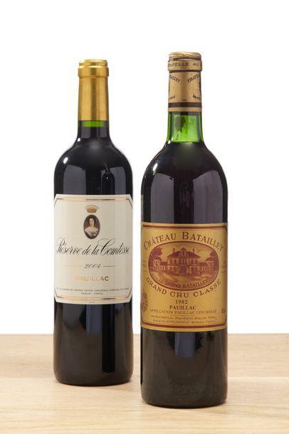 [MIX] LOT 2 blles Pauillac:    - 1 blle Château...