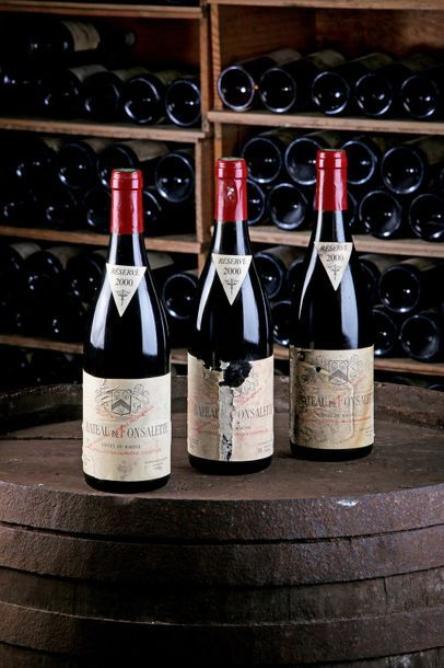 3 Blles Châteauneuf-du-Pape Rouge - 2000...