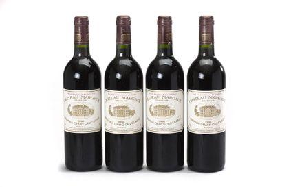 4 blles Château Margaux - 1998 - 1er GCC...