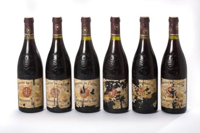 6 blles Chateauneuf-du-Pape - 1989 - Domaine...