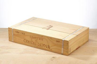 6 blles Château Latour - 2007 - Pauillac...