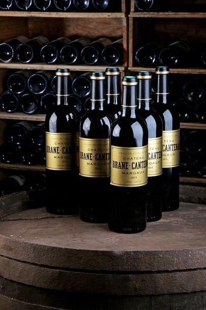 6 Blles Château Brane Cantenac - 2015 - 2e...
