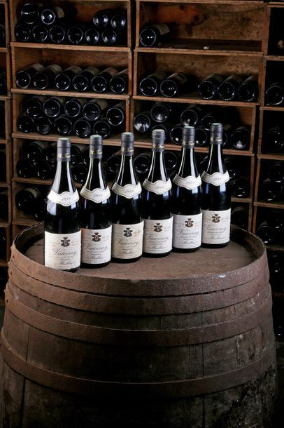 6 Blles Vouvray Moelleux - 1989 - Clos Naudin...