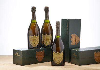 3 blles Champagne Dom Pérignon - 1978 - Moët...