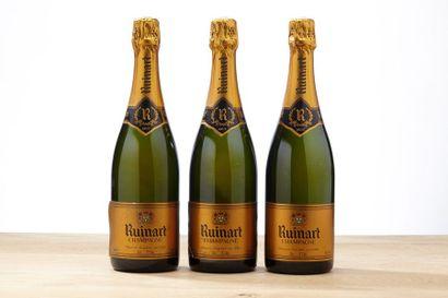 3 blles Champagne R de Ruinart Brut    -...