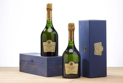 2 blles Champagne Comtes de Taittinger Blanc...